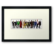 Doctor Who - The 13 Doctors (alternate lineup) Framed Print