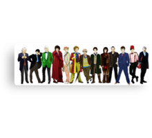 Doctor Who - The 13 Doctors (alternate lineup) Canvas Print