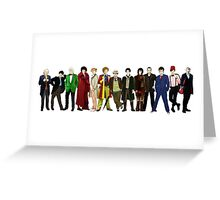 Doctor Who - The 13 Doctors (alternate lineup) Greeting Card