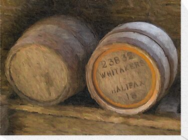 Barrels (Oil Painting Effect) by Glen Allen