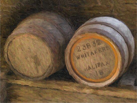 Barrels (Oil Painting Effect) by Glen Allen