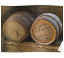Barrels (Oil Painting Effect) Poster