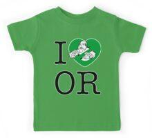 I PNW:GB OR (white) Green Heart v2 Kids Tee