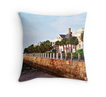 East Battery Seawall Throw Pillow