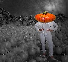 Pumpkin head woman by happyphotos