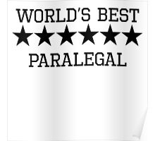 World's Best Paralegal Poster