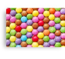 Colorful candy background Canvas Print