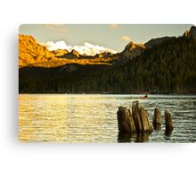 Alpenglow at Lake Mary Canvas Print