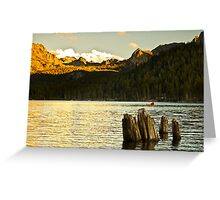 Alpenglow at Lake Mary Greeting Card