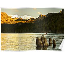Alpenglow at Lake Mary Poster