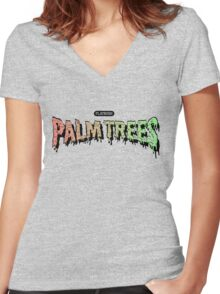 Palm Trees - Mashup! Women's Fitted V-Neck T-Shirt