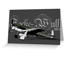 FW190 D Greeting Card