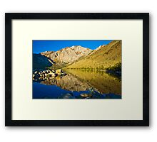 Morning at Convict Lake Framed Print