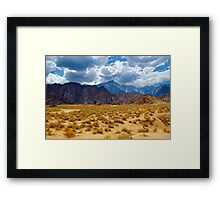 Alabama Hills and the Sierras Framed Print