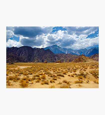 Alabama Hills and the Sierras Photographic Print