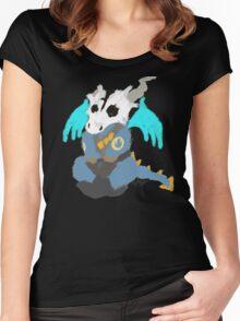 Chibi Pyro Blu Women's Fitted Scoop T-Shirt