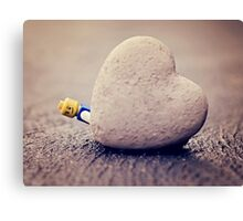 Lego Man Love Canvas Print
