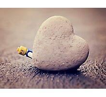 Lego Man Love Photographic Print