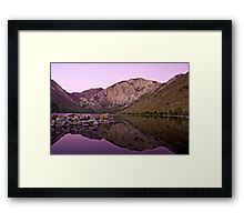 Before Dawn, Convict Lake Framed Print