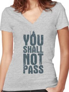 You shall not pass Women's Fitted V-Neck T-Shirt