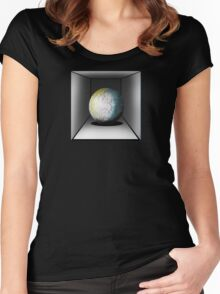 Globe in a box - seriously! Women's Fitted Scoop T-Shirt