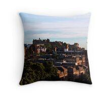 Edinburgh Castle and skyline Throw Pillow