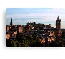 Edinburgh Castle and skyline Canvas Print