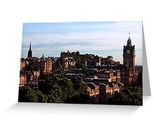Edinburgh Castle and skyline Greeting Card