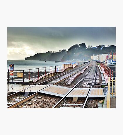 Dawlish Railway Rebuilt. Photographic Print
