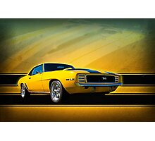 Yellow 1969 Camaro SS Photographic Print