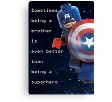Sometimes being a superhero is even better as being captain america (1) Canvas Print