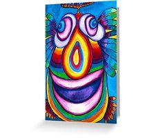 Rainbow Hand Drawn Face Greeting Card