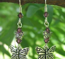 butterfly earrings by simbion