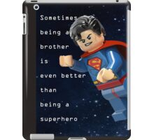 Sometimes being a brother is even better as being superman (1) iPad Case/Skin