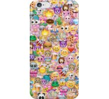 happy emoji pattern iPhone Case/Skin