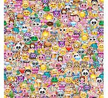 happy emoji pattern Photographic Print