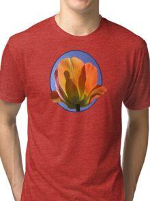 Orange Tulip Against the Sky Tri-blend T-Shirt