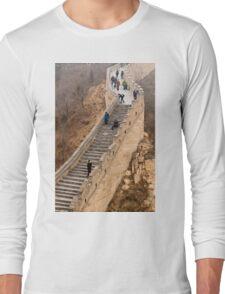 The Great Wall Of China At Badaling - 9 - A Close Up ©  Long Sleeve T-Shirt