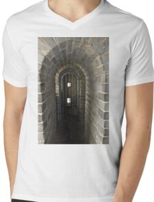 The Great Wall Of China At Badaling - 10 - Inside The Guardhouse © Mens V-Neck T-Shirt