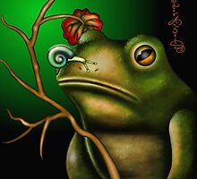 The Toad And The Snail II by AngelArtiste