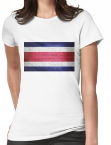 Costa Rica Flag Womens Fitted T-Shirt