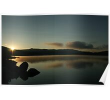 Twin Lakes Co. at sunrise Poster