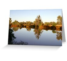 Nature's Mirror ~ Diamantina Lakes National Park Greeting Card