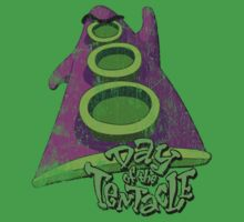 Day of the Tentacle (Distressed) Kids Clothes