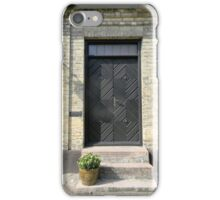 Black Door iPhone Case/Skin