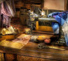 Sewing Machine III by Mike  Savad