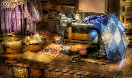 Sewing Machine III by Mike  Savad