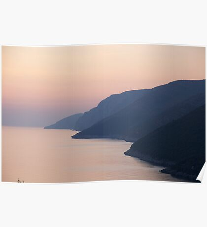 Soft Adriatic Sunset Poster