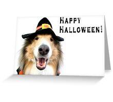 Happy Halloween Collie Greeting Card