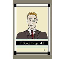 F Scott Fitzgerald Portrait in 60 seconds in yellow Photographic Print